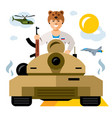 tankman russian military army the vector image