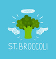 heaven broccoli concept st broccoli vector image