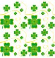 Irish seamless pattern vector image