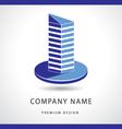 Abstract Real estate logo design template vector image