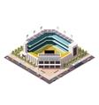 isometric baseball arena vector image