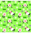 seamless sheep background vector image