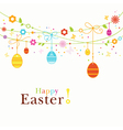 colorful happy easter border vector image vector image