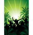 people celebrating at sunrise vector image vector image