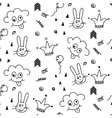 Baby pattern design Nursery kid background vector image