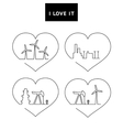 Design of line energy icons set vector image