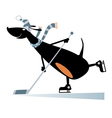 Dog an ice hockey player vector image