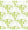 Easter pattern with decorated hand lettering word vector image