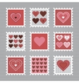 Happy Valentines Day stamps vector image