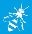 honey bee icon white vector image
