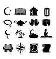 Islam icons set black vector image