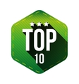 Top 10 - Ten hexagon patch vector image