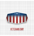 veterans day usa patriotic banner vector image