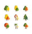set of tree icons vector image