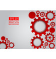 red gear abstract on gray background with copy vector image vector image