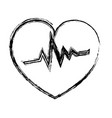 heart cardiology isolated icon vector image