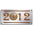 2012 metallic plate vector image