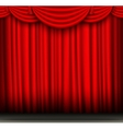 red silk curtain with pelmet vector image