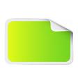 Green sticker on white vector image