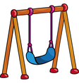 Garden swing cartoon vector