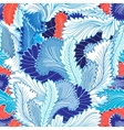 Winter patterns feathers vector image vector image