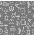 Thin line icons seamless pattern vector image