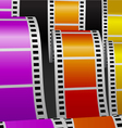 Film stripes vector image