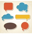 origami speech bubbles set vector image