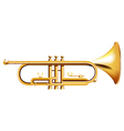 A golden trumpet vector image