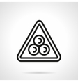 Billiard pyramid simple black line icon vector image