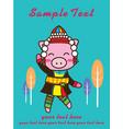 pig cute clothes karen vector image