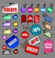 set of tags sale vector image