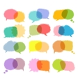 Talking bubble colorful set vector image