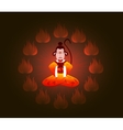 Wise Chinese monkey in a circle of fire Symbol of vector image