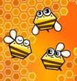 Bee happy vector image vector image