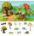 Forest Elements Concept vector image