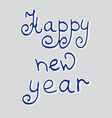 Congratulation happy New Year vector image