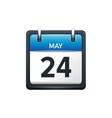 May 24 Calendar icon flat vector image vector image