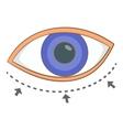 Eye surgery correction icon cartoon style vector image