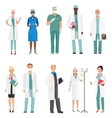 Hospital medical staff doctors Group of doctors vector image vector image