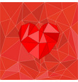 red valentines heart on red wrapping surface vector image