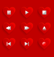 buttons control heart vector image vector image