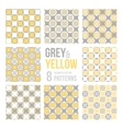 Set of eight seamless patterns vector image vector image