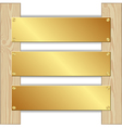 three plaques vector image vector image