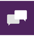 Communication Flat Icon over Purple vector image vector image