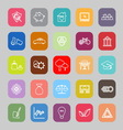 Sufficient economy line flat icons vector image vector image