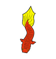 comic cartoon fish vector image