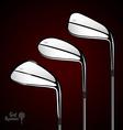 Golf sticks on the dark background as design vector image vector image