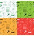 football seamless pattern vector image vector image