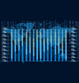blue graphic equalizer display vector image